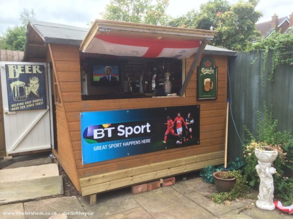 Barry Macgabhann From Worcester Who Has Transformed The 12 Foot By 8 Shed At Bottom Of His Garden Into A Fully Stocked Traditional Country Pub