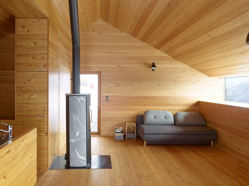 Gaudin-House-Small-Cabin-Savioz-Fabrizzi-Architectes-Switzerland-Living-Area