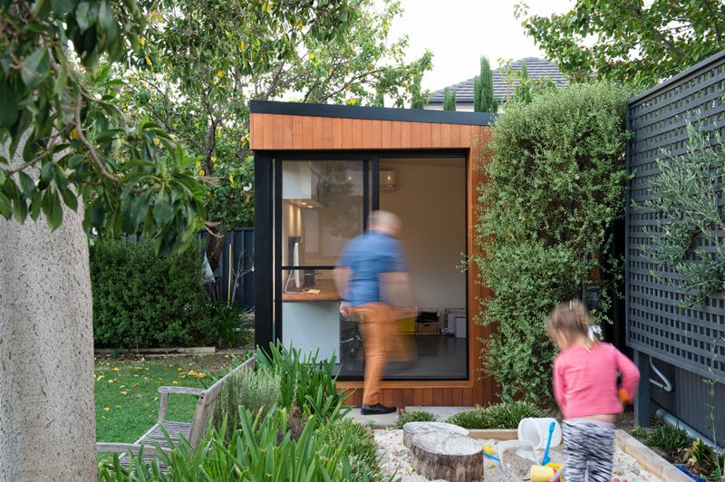 Shedquarters Bring The Home Office To Your Backyard - Prefab backyard office